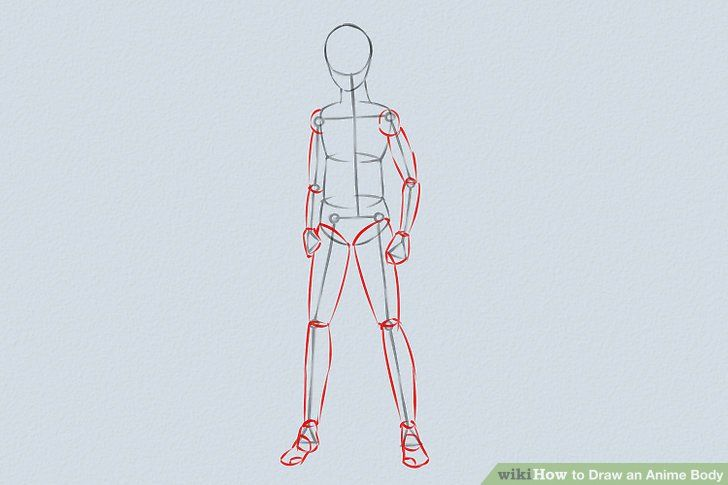 Ways To Draw An Anime Body Wikihow Image Titled Draw An Anime Body Step In 2020 Drawing Anime Bodies Guy Drawing Male Manga