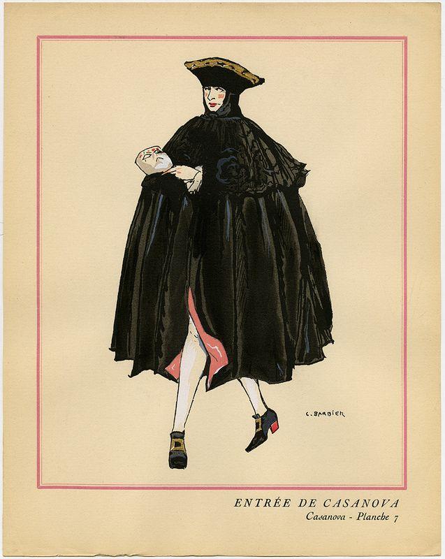 1918 Costume di Casanova, décors et costumes par Georges Barbier