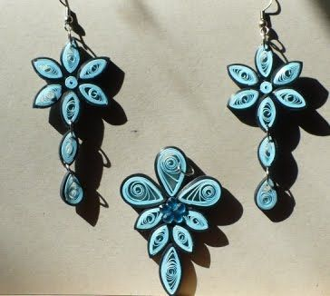 paper quilling jewelry - Google Search