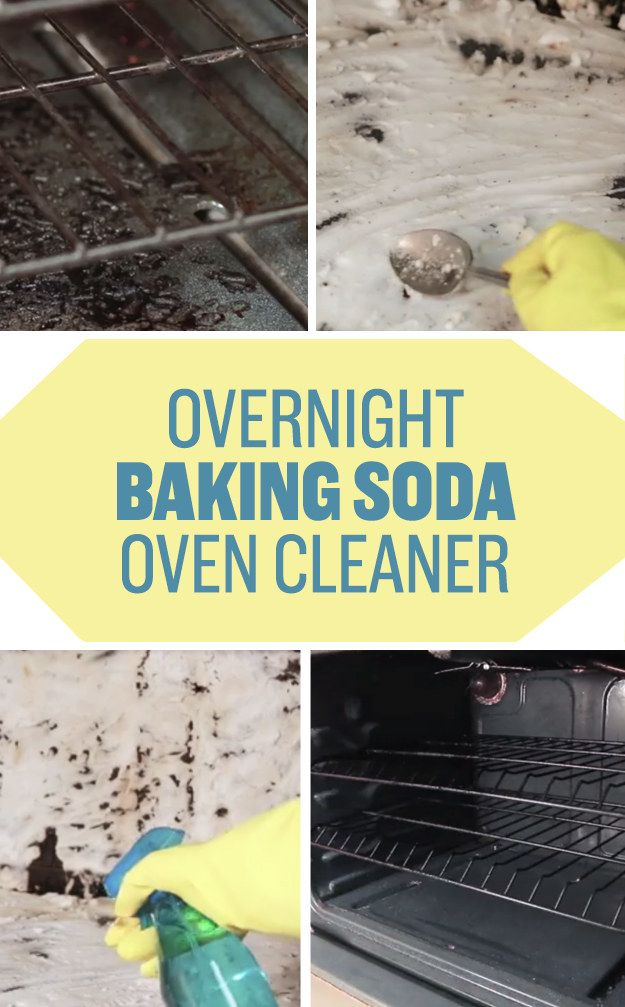 De-grime your oven using an overnight baking soda paste and spritzes of vinegar…