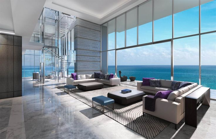 Penthouse at L'Atelier exclusively designed by Holly Hunt | Collins Ave | Miami Beach