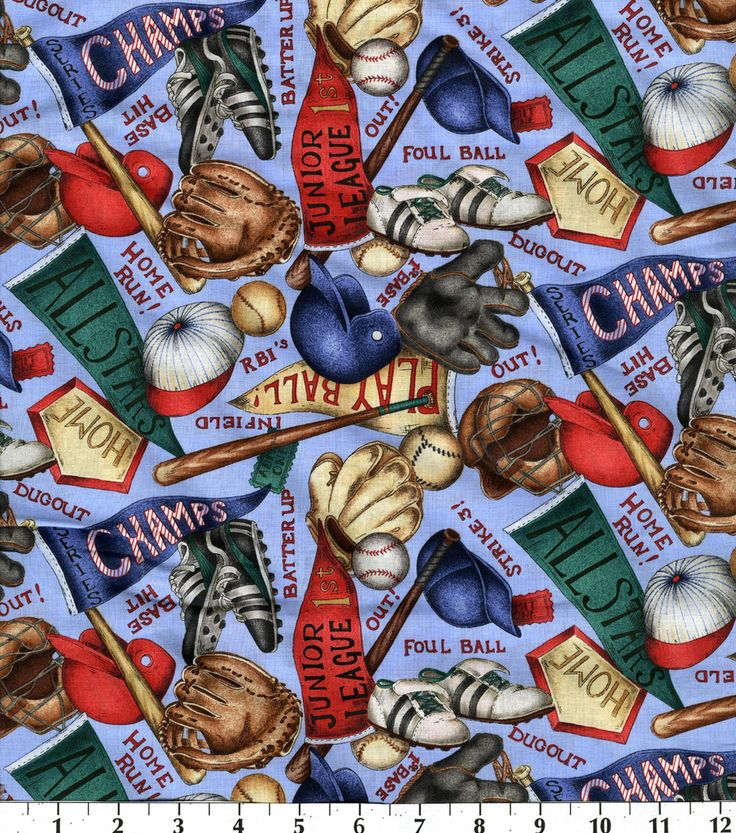 18 best Baseball Fabric images on Pinterest | Accent colors ... : baseball fabric for quilting - Adamdwight.com