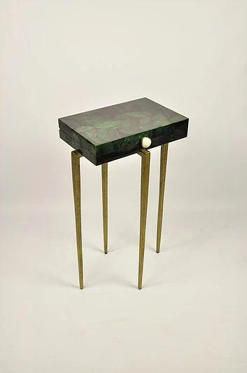 Ginger Brown France,galuchat,shagreen furniture   Side tables