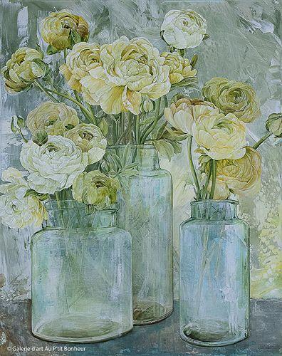 Linda Thompson, 'Spring Gatherings', 24'' x 30'' | Galerie d'art - Au P'tit Bonheur - Art Gallery
