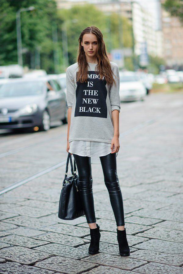 Spruchreif: Die neuesten Sweatshirts haben ganz schön was zu sagen! Im grauen…