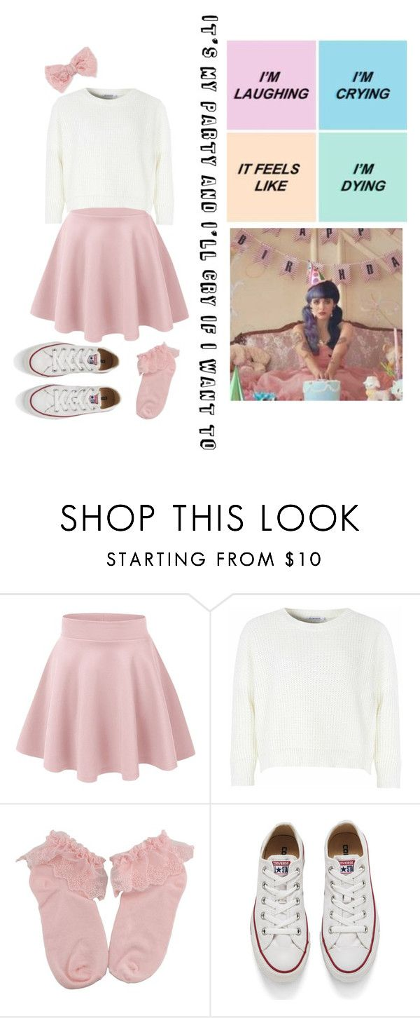 """Pity Party-Melanie Martinez"" by oswinoswald-ashtoniall ❤ liked on Polyvore featuring Glamorous, Converse and Decree"