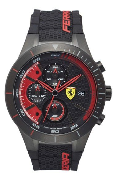 Scuderia Ferrari 'Redrev Evo' Chronograph Watch, 46mm