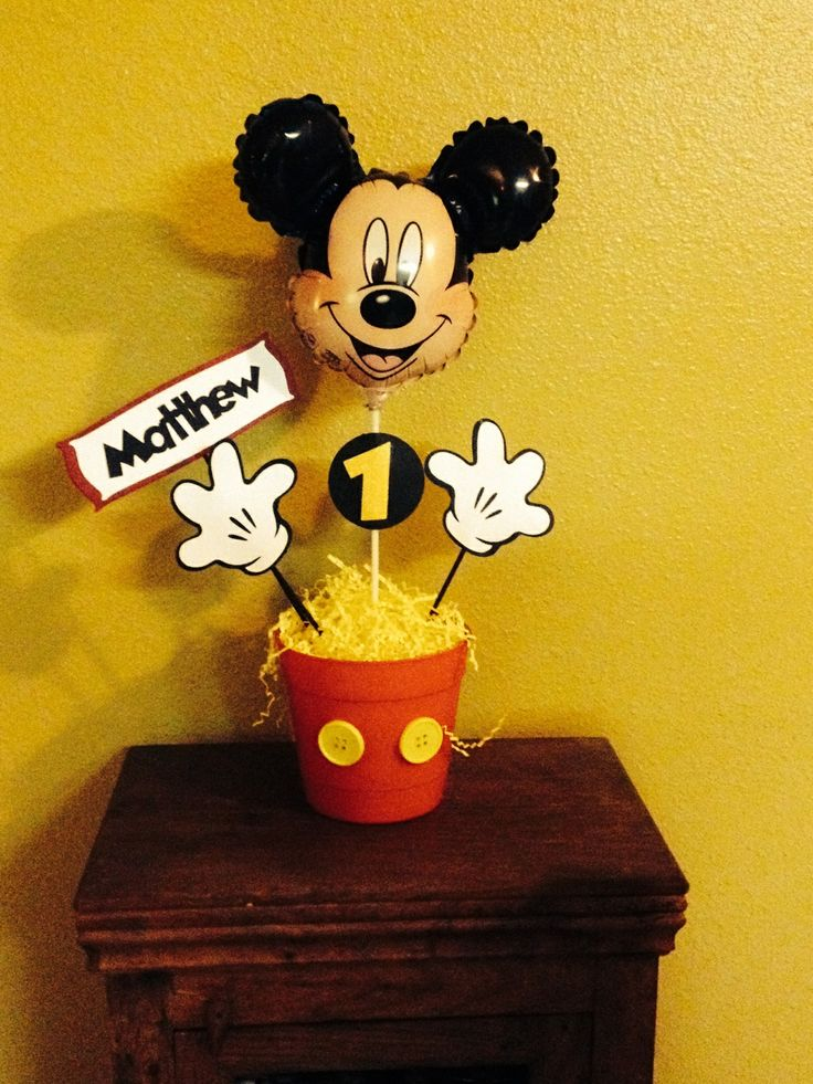 Mickey Birthday Images >> Mickey Mouse centerpiece | Centerpieces | Pinterest | Mickey mouse centerpiece, Mickey mouse and ...