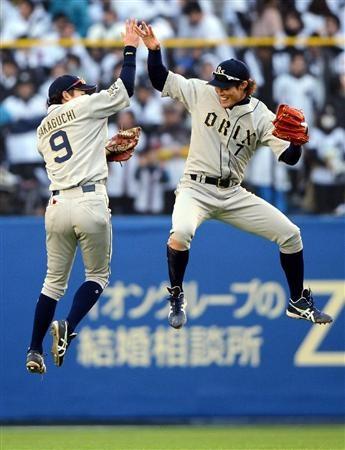 Tomotaka Sakaguchi and Yoshio Itoi (Orix Buffaloes)