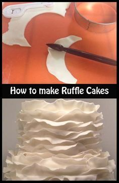 How to make Ruffle Cakes. When you open this pin, click on Tricks of the Trade; it's on the right side, next to the edge of the page. You'll find several beautiful and creative cakes with tips and ideas for making them!!
