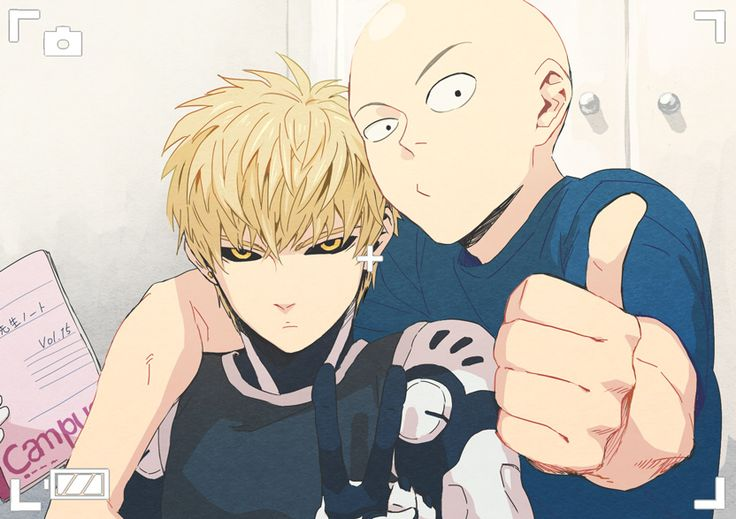 Would've never thought Saitama would take a picture with Genos. Interesting.