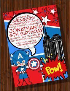 Resultado de imagen para invitaciones de cumpleaños del capitan america
