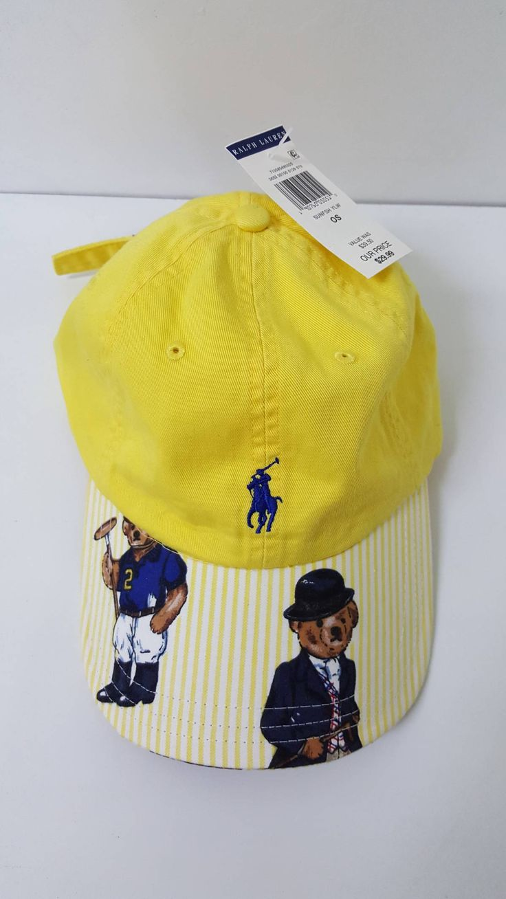 Buy Polo Ralph Lauren Custom Polo Ralph Lauren Polo Bear Strapback Cap, Size: ONE SIZE, Description: Custom Polo Ralph Lauren Polo Bear Strapback Cap   - New with tags  - Custom made with Polo bear fabric (Rare yellow) - 1 of 1 - Minor signs of craftsmanship/stitching overall perfect look - All authentic Polo materials - Adjustable Size , Seller: meltingclock, Location: United States