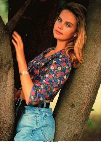 Charlize Theron started her modeling career at 14