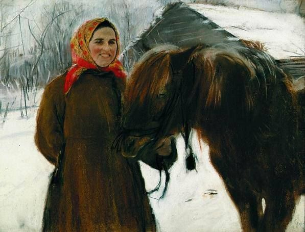 ВАЛЕНТИН СЕРОВ Баба с лошадью, 1898