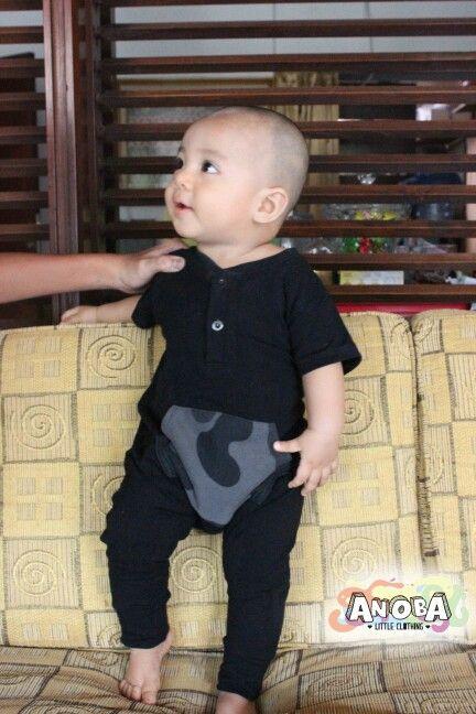 Romper for boys #ANOBA #baby #babyboy #fashionkids #babyfashion #babystuff #baby #babyclothing #bajubayi #celanabayi #clothing #homemade #indonesia #localbrand