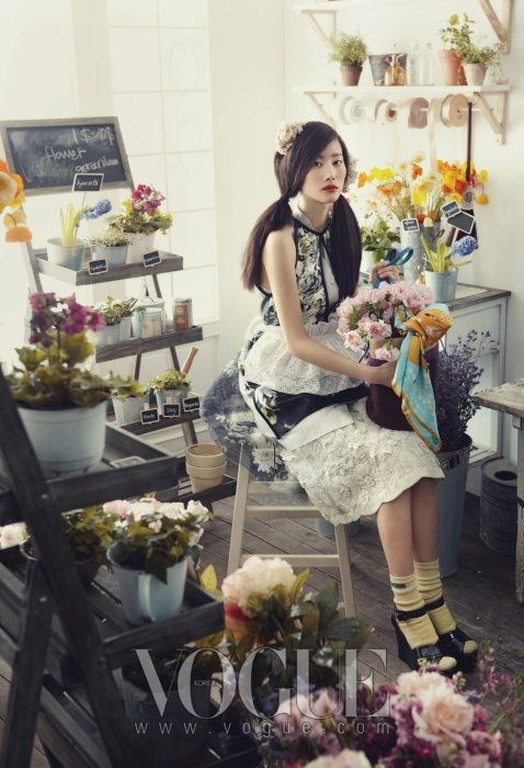 flower shop photoshoot idea