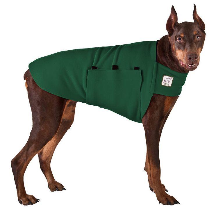 DOBERMAN PINSCHER Tummy Warmer, Dog Sweater, Dog Clothing, Fleece Dog Coat by VoyagersK9Apparel on Etsy https://www.etsy.com/listing/60943025/doberman-pinscher-tummy-warmer-dog