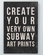 Subway Art Generator