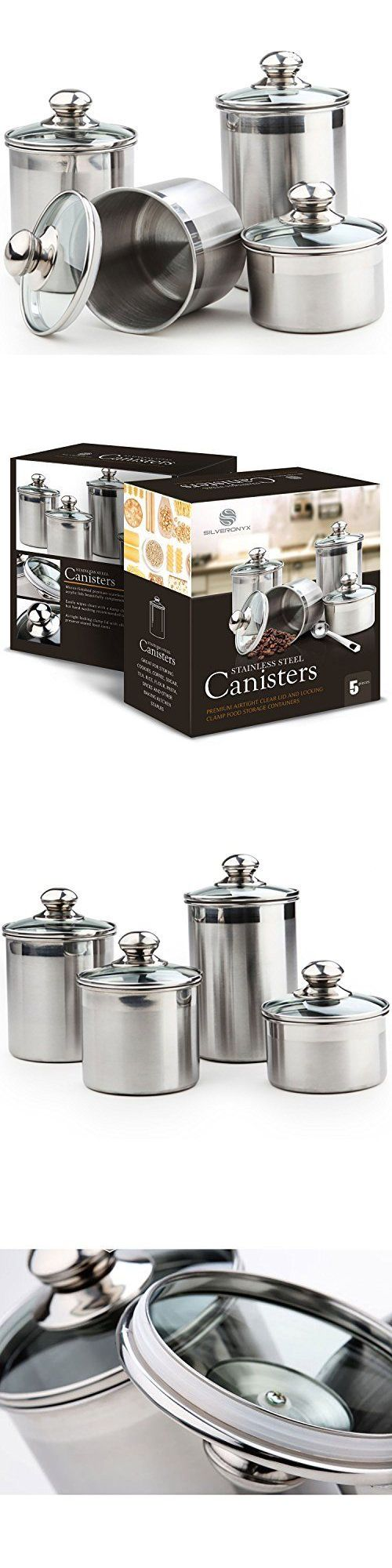 best 25 tea coffee sugar jars ideas only on pinterest tea and canisters and jars 20654 5 pc canister set stainless steel kitchen counter glass tea coffee