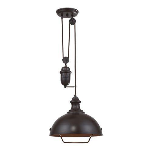 Farmhouse Oiled Bronze Pendant Landmark Lighting Dome Pendant Lighting Ceiling Lighting