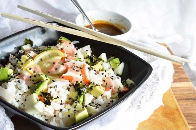 California Roll Sushi Bowl | 17 Healthy Grain Bowls You Should Make For Dinner