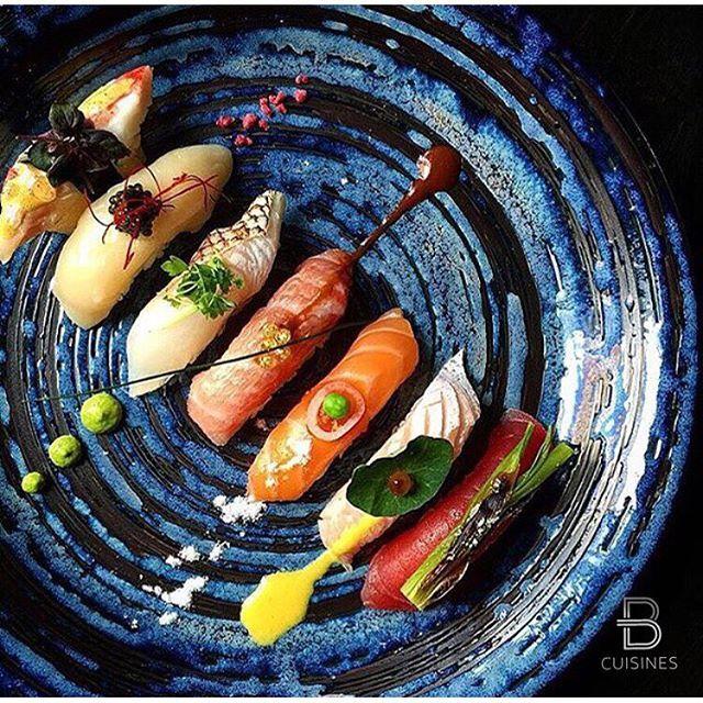 "@beautifulcuisines's photo: ""Beautiful sushi art. Credits: @chefjohn Via…"