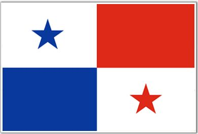The Panama Flag is divided into four parts among which the two sections are white in color and the other two are red and blue.