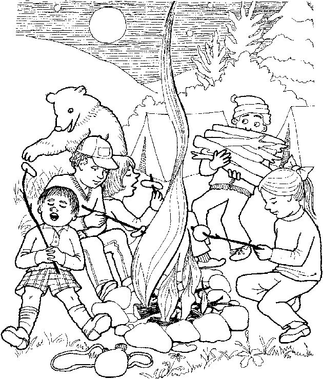 1000 images about camping coloring pages on pinterest for Camp coloring pages