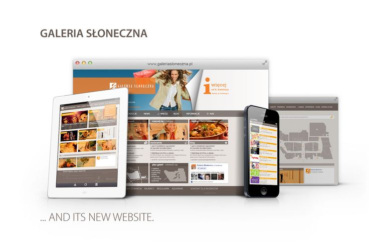 Galeria Słoneczna in Radom – responsive web design