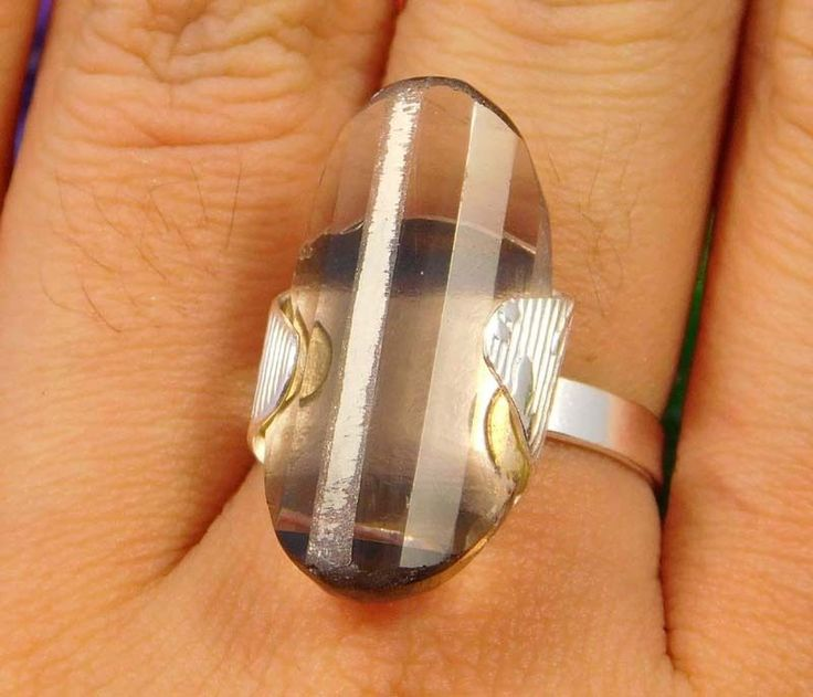 Stunning Smoky Topaz Quartz .925 Silver Handmade Ring Size-8.50 Jewelry JC1887 #Handmade
