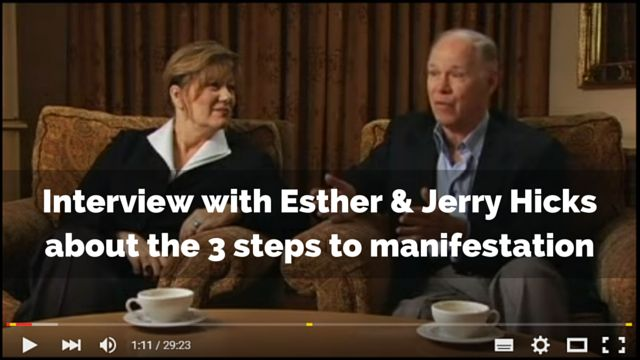3 steps to manifestation by Esther and Jerry Hicks: http://brandonline.michaelkidzinski.ws/interview-with-esther-jerry-hicks-about-the-3-steps-to-manifestation/ #loa #lawofattraction