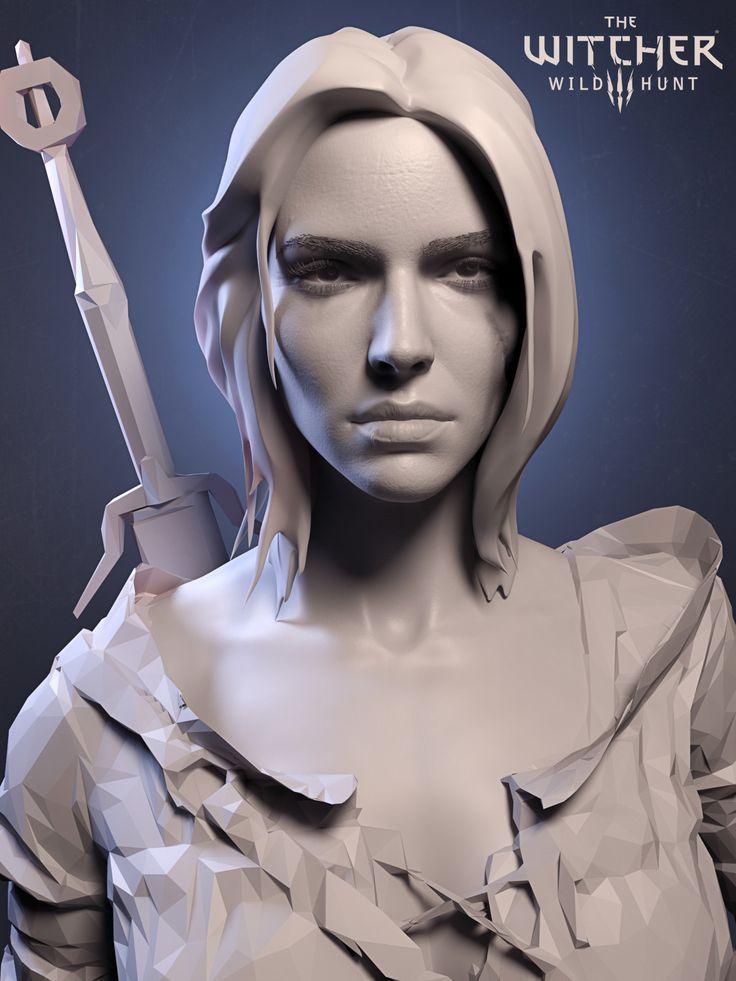 ArtStation - Ciri face and hair concept, Paweł Mielniczuk
