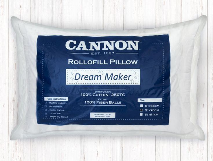 Pillow CANNON Rollofill Dream Maker conforel silicone fiber fill 100% cotton 250TC