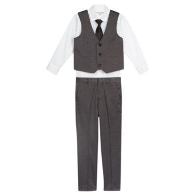 RJR.John Rocha Designer boy's grey herringbone suit set- at Debenhams.com