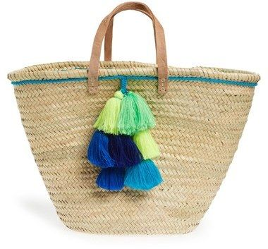 House of Perna 'Remy' Woven Straw Tote