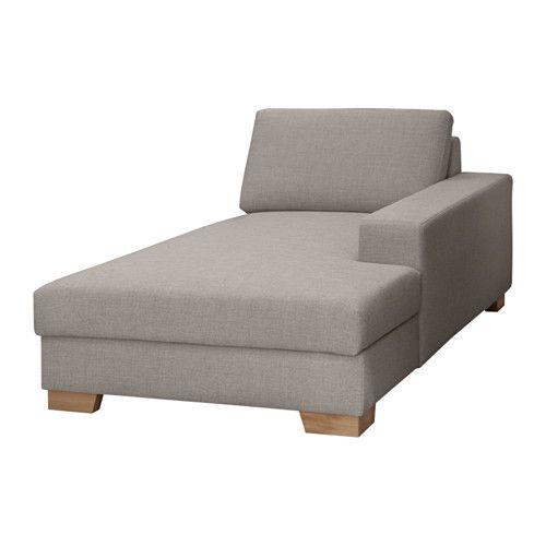 IKEA - SÖRVALLEN, Récamiere, , Starkes, strapazierfähiges Gewebe mit Struktur, durchgefärbt in verschiedenen Nuancen.Récamiere mit Stauraum für Bettzeug o. Ä.
