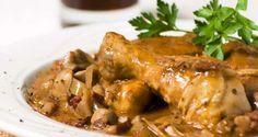 Kip in jagersaus http://koken.vtm.be/sos-piet/recept/kip-in-jagersaus