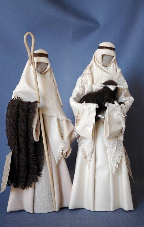 S1: Natural (calico) shepherds  with brown sheep and rug