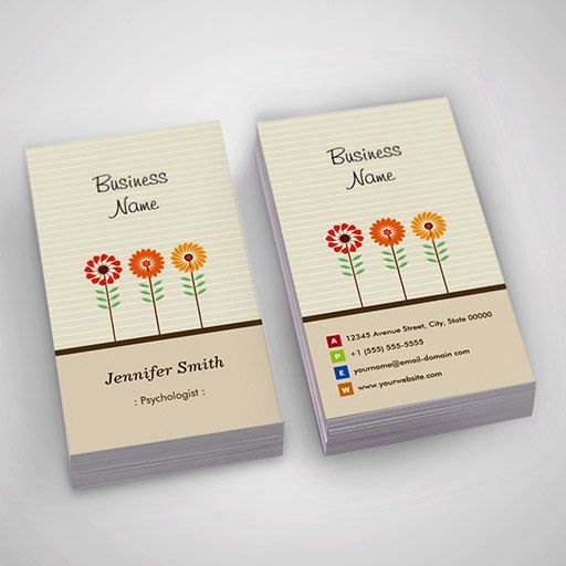 231 best psychology business card templates images on for Psychology business cards