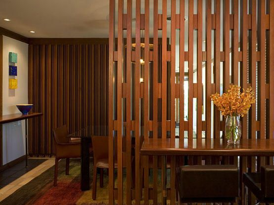 Custom wood screen at a private residence in Austin