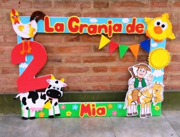 Cumpleaños Temáticos De La Granja De Zenon Y Personajes Fiesta De Granja Fiesta De Animales De Granja Fiesta De Animales