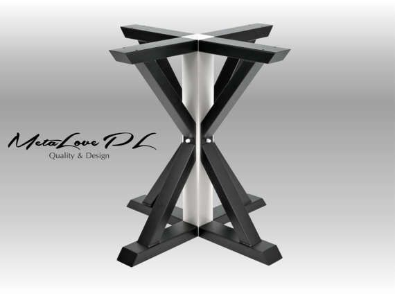 "28"" VITOX 80.40 Round Table Base, Height 26"" - 32"""