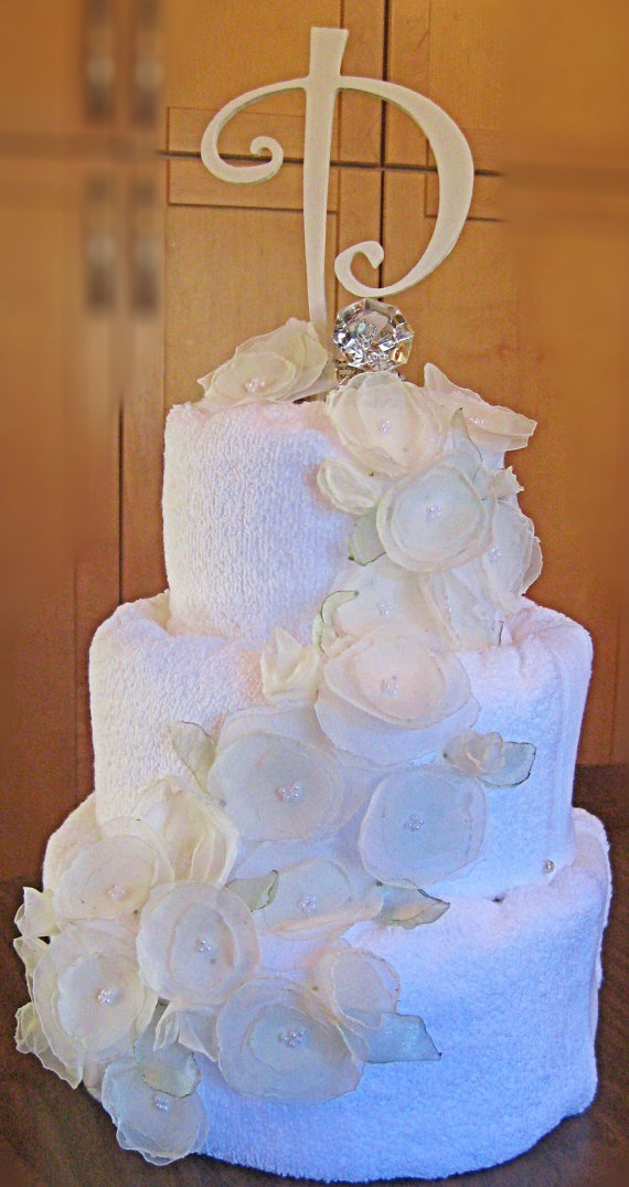 Primrose and Pearls Wedding Shower Towel Cake