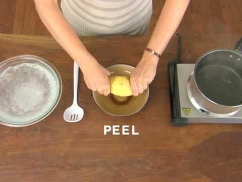 Pour peler une pomme de terre cuite en 2 sec !! formidable !