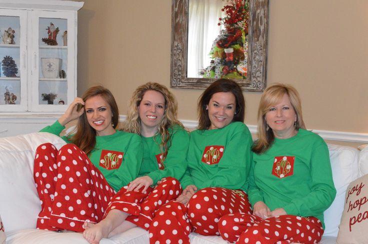 Pre-Order Adult Christmas Monogrammed Pajama Set /  Family Christmas Pajamas by DBKMonograms on Etsy https://www.etsy.com/listing/255394660/pre-order-adult-christmas-monogrammed