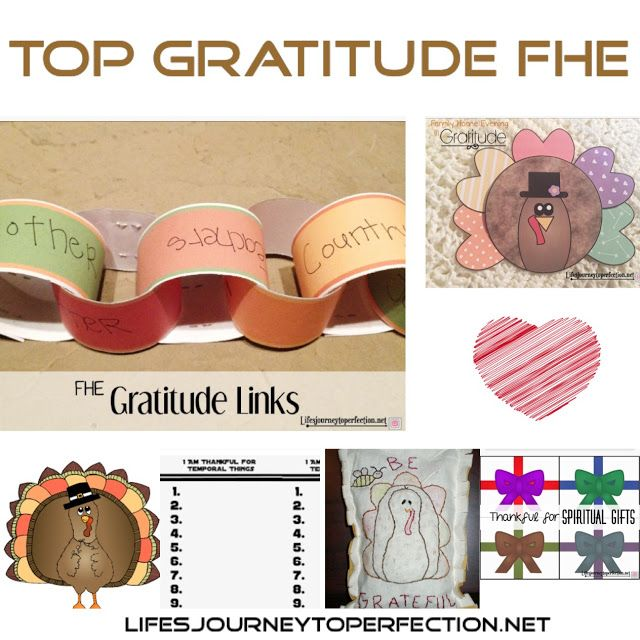 Top Family Home Evenings On Thanksgiving And Gratitude Activities Home And