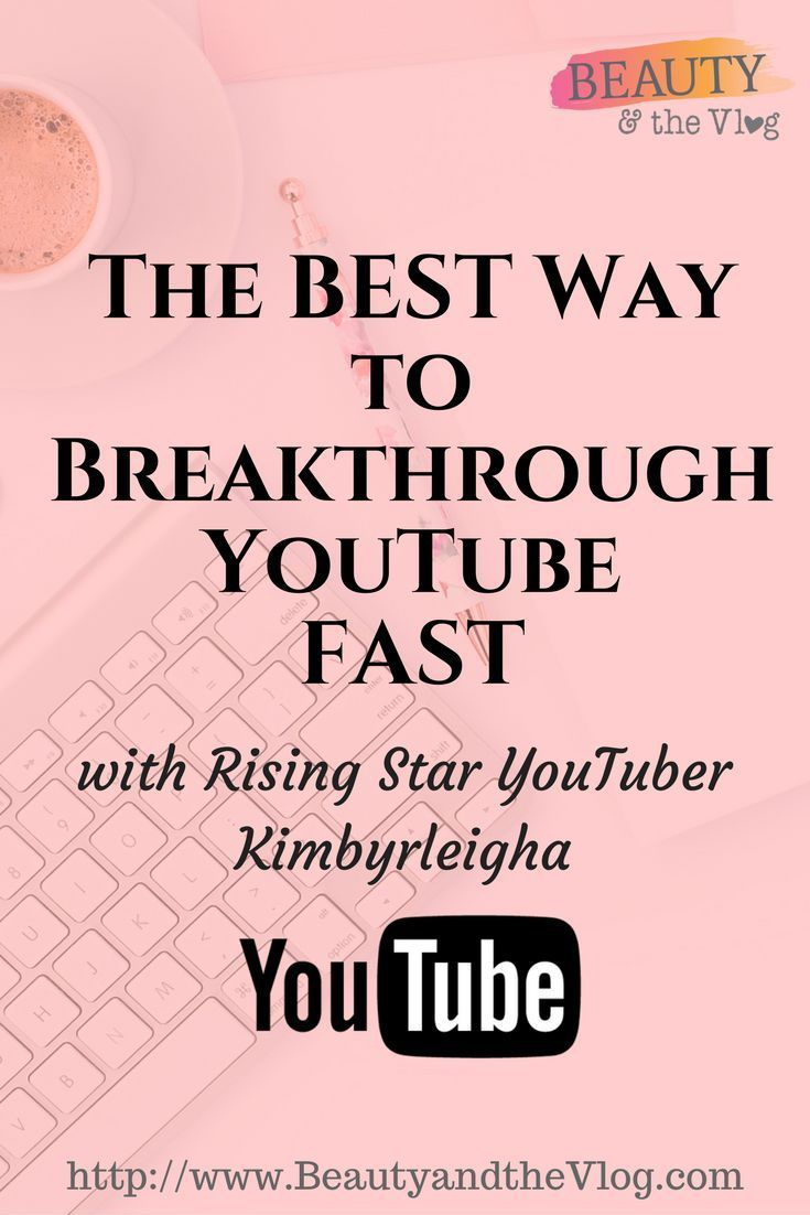 The best way to break into YouTube super fast with rising star you tuber who grew 100k subscribers in two years.
