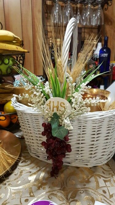 First communion basket