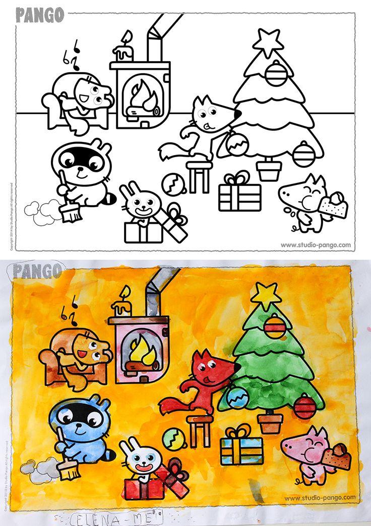 Christmas joy ! coloring kids Enfant, Graphisme